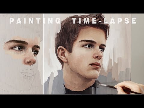 portrait painting tutorial time lapse video by daria callie