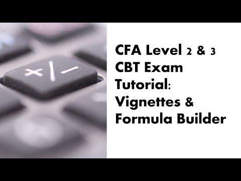 CFA Level 2 and 3 CBT Exam Tutorial - Vignettes and Formula ...