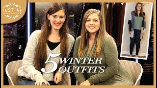 5 Winter Outfits For Curvy Figures Feat. Sierra Schultzzie ǀ Justine Leconte