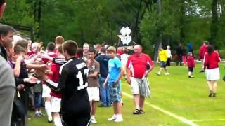 preview picture of video 'MKS Sławków - WISŁA Kraków (koniec meczu)'