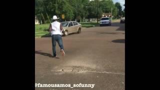 I bet you wont @famousAmos_sofunny Stops Traffic