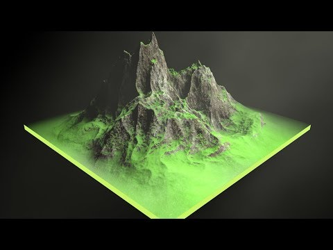 Cinema 4D Tutorial – How To Make a Rock Mountain in Cinema 4D