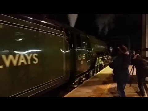 60163 Tornado whistles away from Reading on 'The Red Rose' 1…