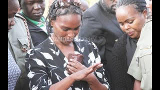 Sarah Wairimu launches scathing attack during the burial of her husband Tob Cohen