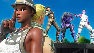 this Fortnite FASHION SHOW made fun of my NO SKIN, then I showed them my RECON EXPERT.. (they cried)