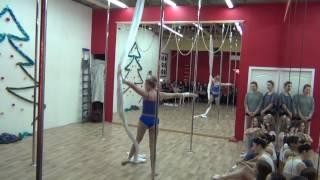 Воздушные полотна в школе танцев Study-On, Челябинск, 2016