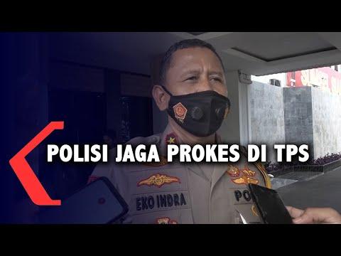 polisi jaga prokes di tps