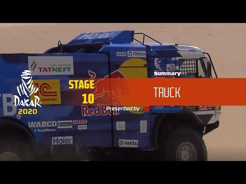 【ダカールラリーハイライト動画】ステージ10 トラック部門のハイライト