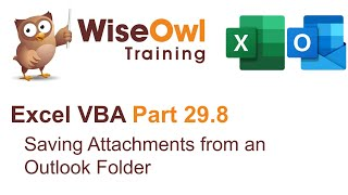 Excel VBA Introduction Part 29.8 - Saving Attachments from an Outlook Folder