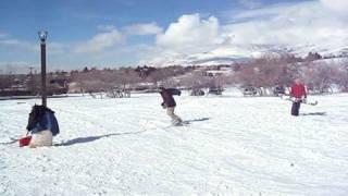 Snow Sledding Gap Jump (20 X 5 foot air)