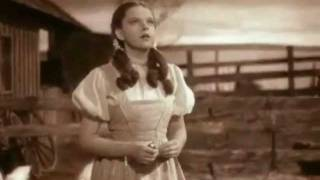 Somewhere Over the Rainbow-- Judy Garland with lyrics
