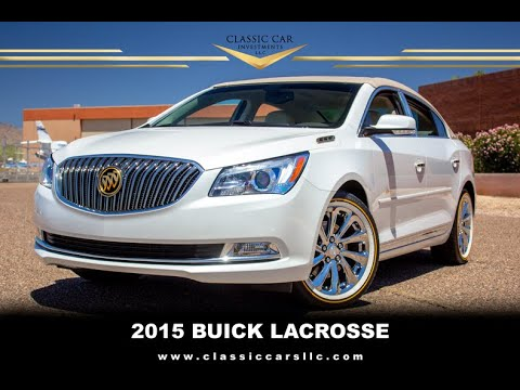 FOR SALE: 2015 Buick LaCrosse  -Only 14k miles -White Frost Tricoat -Chrome Wheels -Vogues - AZ Car!