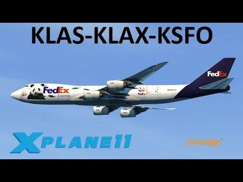 X-Plane 11 | Haulin' Cargo!! | B748 B767 | PilotEdge | Las Vegas, Los Angeles & San Francisco!!