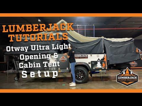Otway Ultra Light Open & Cabin Tent Setup