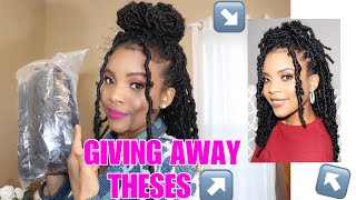 Holiday GIVEAWAY Announcement 🎊 | I am giving away Niseyo crochet locs! (1 winner) closed