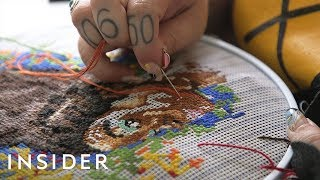 Artist Makes Cross-Stitch Jackets For Kanye West And SZA