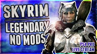 Skyrim + 1K SUBS BEARD SHAVE! | Legendary Difficulty - No Mods - Level 53+ | PS4 Pro Gameplay