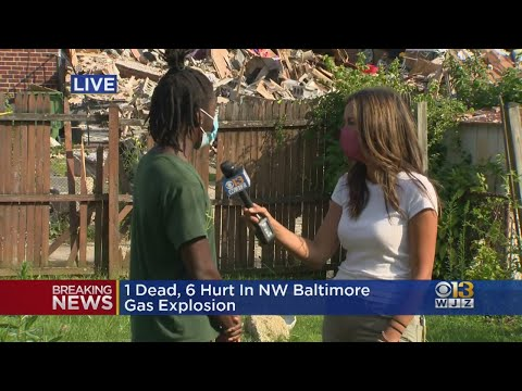 Neighbor Describes Rushing Outside To Help Following Baltimore Explosion