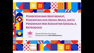 Pemberdayaan Masyarakat, Perempuan & Orang Muda, Serta Pendidikan HKSR