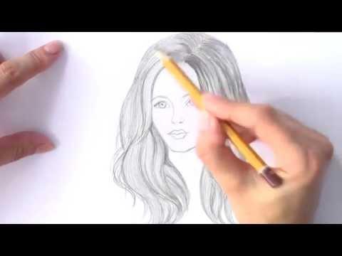 Уроки рисования. Как нарисовать ВОЛОСЫ карандашом .РИСУЕМ ВОЛОСЫ | Art School