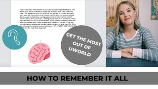 Study A UWorld Question for Maximum Retention // Step by Step Guide