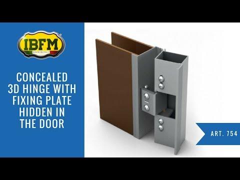 I.B.F.M.|Art. 754|Cerniera 3D a scomparsa per porte blindate|Concealed 3D hinge for armored doors