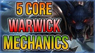5 PRO Warwick Tips for Dummies - 5 Core Warwick Mechanics YOU SHOULD KNOW! - League of Legends
