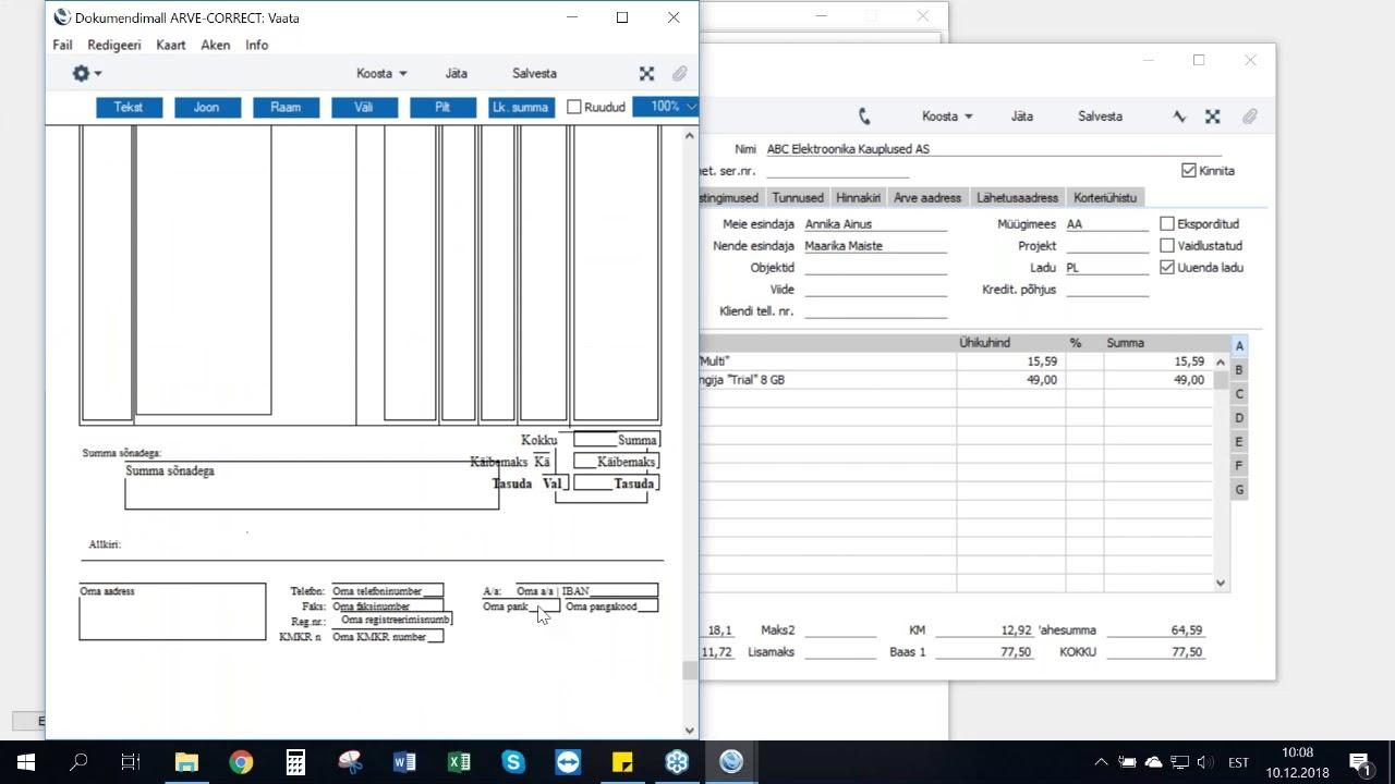 Dokumendimallide muutmine ja sidumine