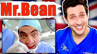 Doctor Reacts To Hilarious Mr. Bean Medical Scenes