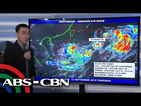 [ABS-CBN]  PAGASA 5PM update on Tropical Depression Marilyn | 12 September 2019
