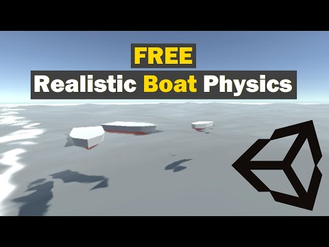 Boat physics in Unity video