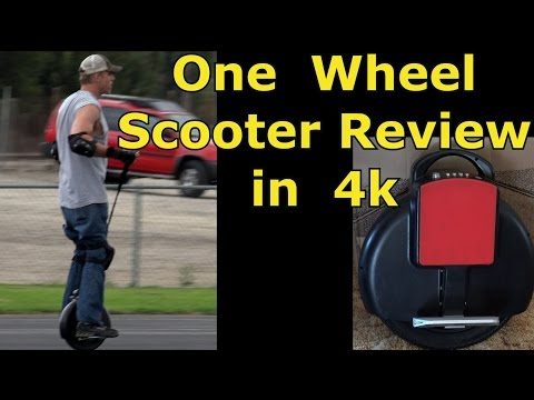ONE-Wheel Electric Scooter, Unicycle – REVIEW & TEST DRIVE IN 4K