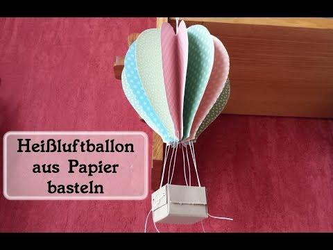 Heißluftballon | Deko aus Papier | Stampin' Up! | Ohrenpost