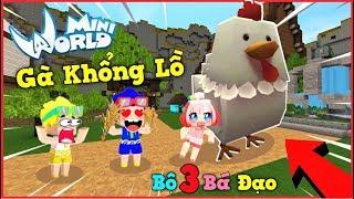 Mini World: Nếu Phong cận nuôi bé gà khổng lồ có sức mạnh hủy diệt trong mini world | Phong Cận Tv