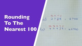 How To Round A Number Off To Nearest Hundred (nearest 100)