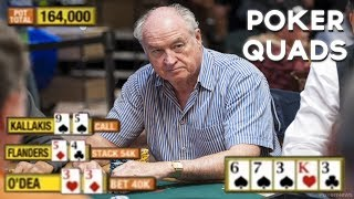 "Best Poker ""QUADS"" - A Poker Four Of A Kind Video!"