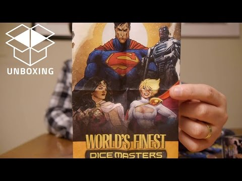 Unboxing and Early Look of DC Dice Masters: World's Finest