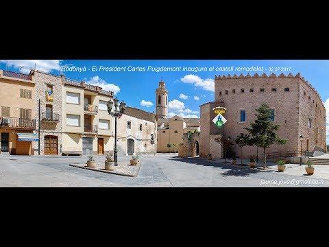 Carles Puigdemont inaugura el castell remodelat de Rodonyà 02 07 2017   jaume jové