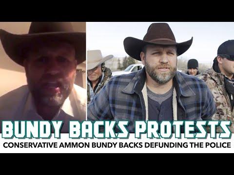 Conservative Ammon Bundy Backs Defunding The Police