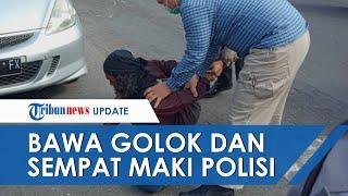Kronologi Pria Misterius Berambut Gondrong Bawa Golok Serang Mapolresta Yogyakarta dan Maki Polisi