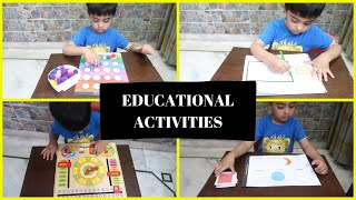 Educational Activities AT HOME for 2 - 4 year old
