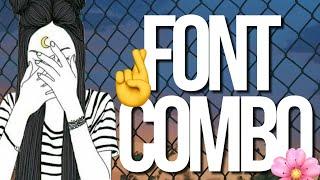 FONTS COMBO 🤞🌸💋