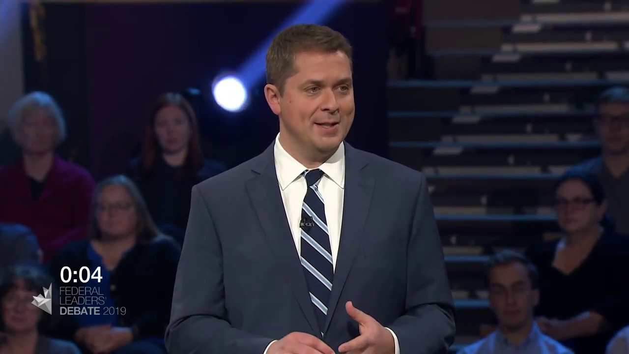 Andrew Scheer answers a question about truth and reconciliation