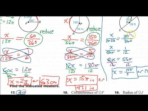 How to Find the Arc Measure or Angle Given the Arc Length and the Radius