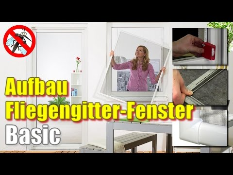 Fliegengitter Fenster BASIC [Montage-Video]