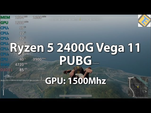 AMD Ryzen 2400G And 2200G Are Able To Run PUBG At 60 FPS At