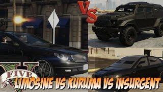 GTA V - Teste de Resistencia : A nova Limo X Insurgent X Kuruma
