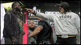 """""""You feather duster!"""" 🤣 Best bits from chaotic Wilder v Fury press conference"""