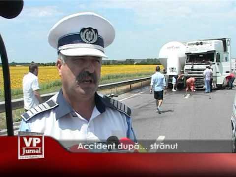 Accident după… strănut
