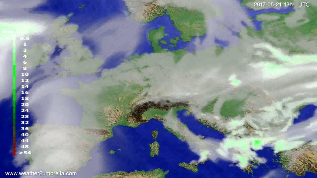 Precipitation forecast Europe 2017-05-18